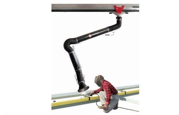 Aliumininis dulkių ir dūmų nutraukimo kanalas su slankiojančiu vežimėliu ERGO/KOS- AL