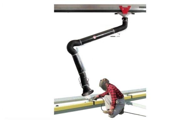 Aliumininis dulkių ir dūmų nutraukimo kanalas su slankiojančiu vežimėliu ERGO/KOS- AL, Klimawent