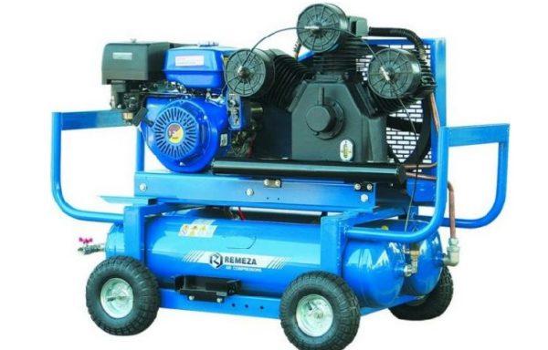Mobilūs stūmokliniai oro kompresoriai su benzininiais vidaus degimo varikliais