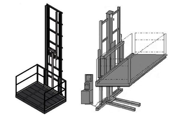 Krovininiai koloniniai liftai-keltuvai